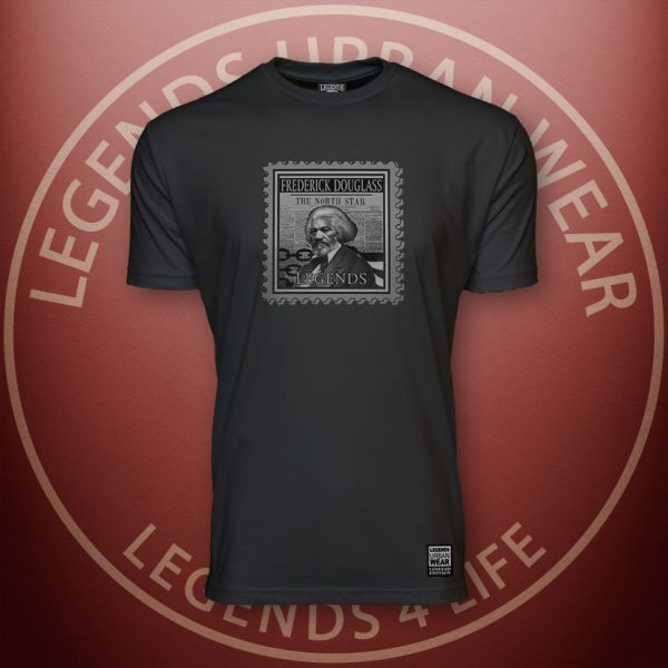 LEGENDS-Douglass-Mens-Black-Premium-Tee-Front