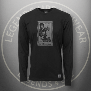 Legends Jan Matzeliger Black Long Sleeve Shirt Front
