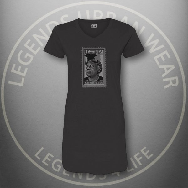 LEGENDS-Mary-McLeod-Bethune-Womens-Black-Dress-Tee-Front