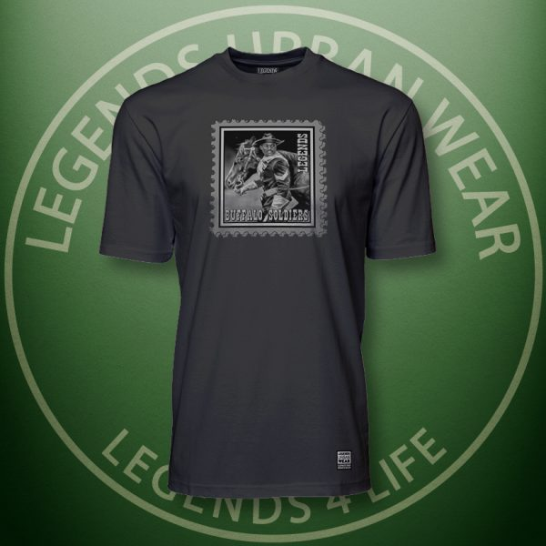 Legends Buffalo Soldiers Black Super Tee Front