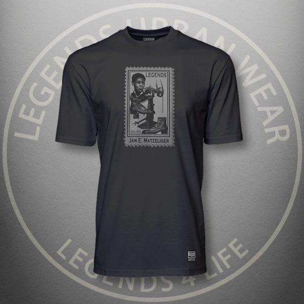 Legends Jan Matzeliger Black Super Tee Front