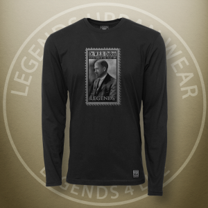 Legends W.E.B. Du Bois Black Long Sleeve Shirt FRONT