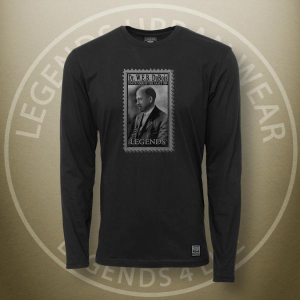Legends W.E.B. Du Bois Black Long Sleeve Shirt FRONT