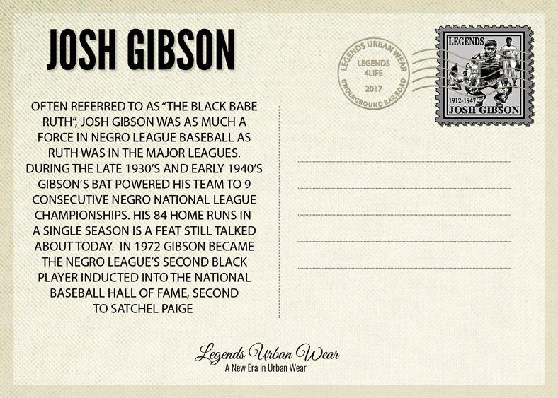 Legends Josh Gibson Postcard