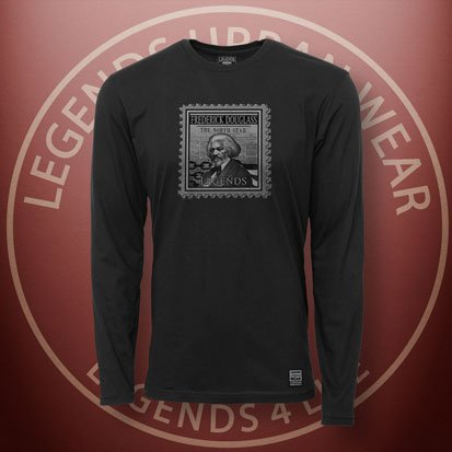 Legends-Frederick-Douglass-Black-Long-Sleeve-Shirt-FRONT
